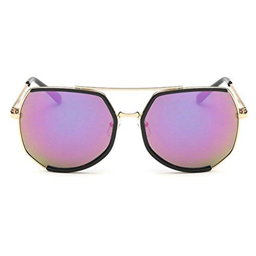 Junecat Mode Männer Frauen Unisex Jahrgang Metallrahmen UV400 Sonnenbrille-Gläser