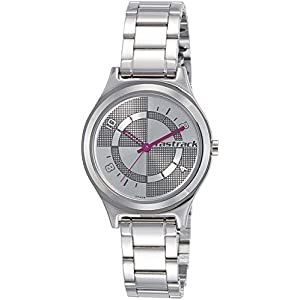 Fastrack Analog Silver Dial Women's Watch-6152SM01