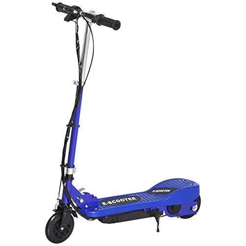 HOMCOM Elektroroller Kinderroller Cityroller klappbar Jugend Roller 12 km/h Kinder Metall Blau L74*W36*H73-91cm