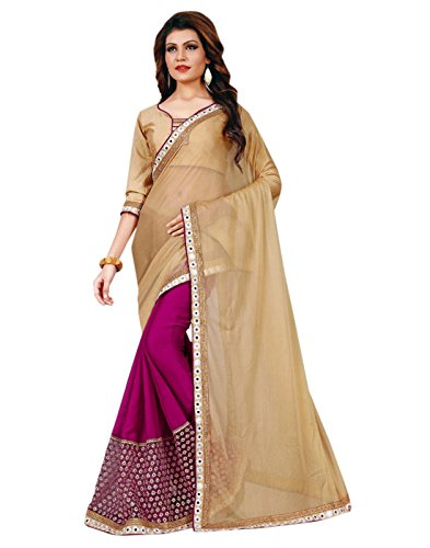 Sarees (Women's Clothing Chifon Saree For Women Latest Design Wear New Collection in Latest With Designer Blouse Free Size Beautiful Purple Saree For Women Party Wear Offer Designer Sarees With Blouse Piece)