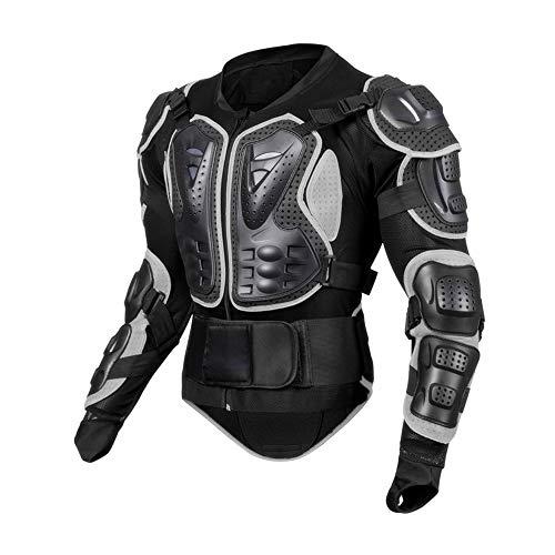 Motorrad Full Body Armor Protector Pro, Motocross MTB Racing Protective Jacket Shirt, Rüstung Anti-Kollision bruchsicher für Herren Damen Schwarz,XL