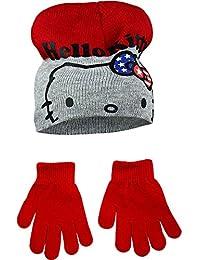 Hello Kitty Childrens Girls Winter Hat Gloves Set c68eede91d8e