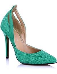 KUKIE Best 4U? Sandalias de verano para mujer con puntas de poliuretano premium de 12 cm, tacón alto, suela de...