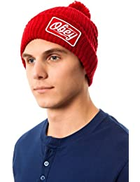 Obey - Bonnet Homme Gasoline Pom Pom Beanie - Red
