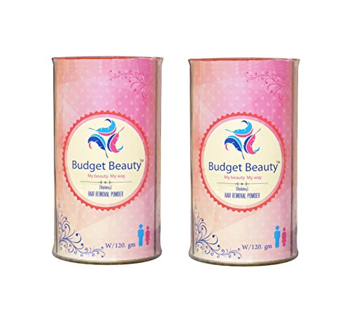 Budget Beauty Effective Hair Removal Powder Natural Depilation Easy Hair Removal Powder - Removes Hair Safely And Gently Pack Of 2