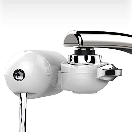 Wasser-filtration-fluorid (Wasserhahn Wasserfilter, EgoEra® Leitungswasser Filter Reiniger / Wasseraufbereiter Trinkwasser / Wasserfilter Wasserreiniger Trinkwasser für die Küche mit Waschbarem Keramischen Filterkern)