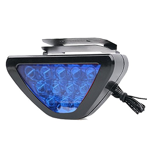 Vheelocityin Triangle Blue 12 Led Brake Light With Flash Mode For Honda Activa  available at amazon for Rs.250