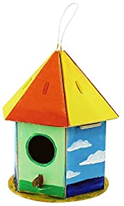 Robo Time F197 - Juego de 2 puzles 3D (19 Piezas), diseño de casa de pájaros
