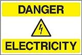 Elektrische ACHTUNG Hazard Aufkleber Gefahr Strom