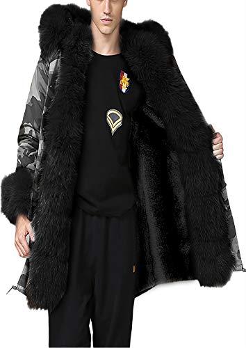 Trim Winter Mantel (roiii Lady Frauen Warm dicker Wintermantel Kapuze Parka Overcoat Long Jacket,, damen, Amrygreen)