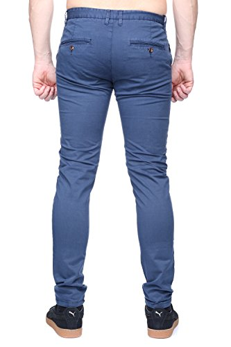 Kenzarro - Jeans Kd67003 Chino Blue Bleu
