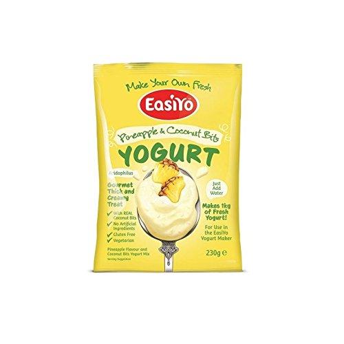 Easiyo Ananas & Kokos mit Bits Premium-Joghurt-Mix 230g (Packung mit 6) (Kokos-ananas-kuchen)
