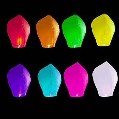 20 Stück in 8 Farben gemischte Himmelslaterne SKYBALLON SKYLATERNE