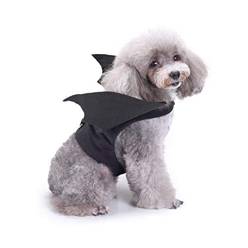 Amakunft Hund Party Kostüm, Bat Wing Pet Festival Kleid Kleidung für Halloween und Weihnachten Tag Outfit Hoodie Interessante Coat