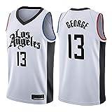 RTMJUNMA Uomo Donna NBA Clippers 13# George Jersey Maglia da Basket Traspirante Canotte da Basket