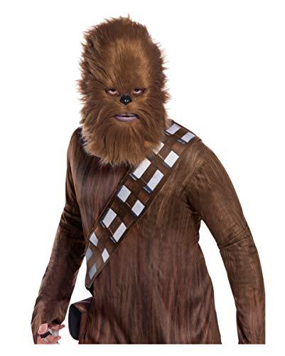 Horror-Shop Star Wars Chewbacca Halbmaske mit Fell