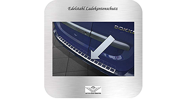 Spangenberg Edelstahl Ladekantenschutz Passend Für Dacia Dokker Kombi Ab Baujahr 11 2012 Mit Aussparungen Art 3235142 Auto