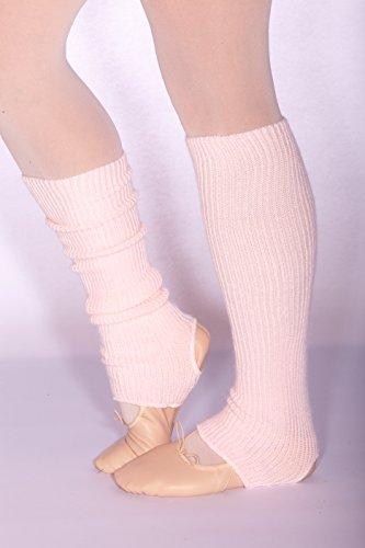 Kinder Stulpen für Ballett und Tanz (36cm lang) mit Fersenloch, rosa (Rosa)
