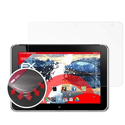 atFolix Schutzfolie passend für HP ElitePad 1000 G2 Folie, entspiegelnde & Flexible FX Bildschirmschutzfolie (2X)