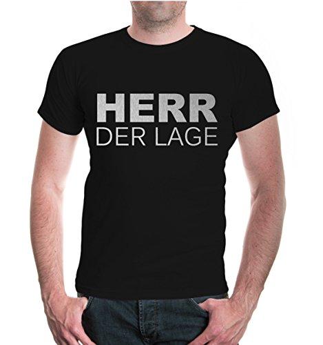 buXsbaum® T-Shirt Herr der Lage Black-Silver