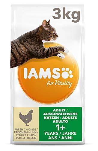 IAMS for Vitality Adult Katzenfutter trocken mit frischem Huhn 3kg