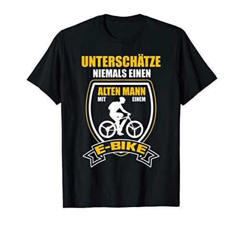 E-Bike Fahrrad Elektrofahrrad Alter Mann Spruch Herren Ebike T-Shirt