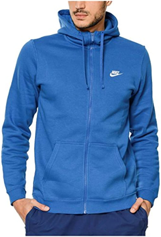 Nike Mens Club Full Zip Fleece Hoodie XXL  Blue Jay/White