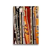 CALVENDO Lienzo Premium de 30 cm x 45 cm de Alto para Guitarra eléctrica, Imagen sobre Bastidor, Lienzo auténtico, impresión en Lienzo (calvento Arte), Arte