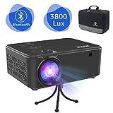 WONNIE Bluetooth Projector 3800 Lux Video Mini Portable LED HDMI 1080P Full HD
