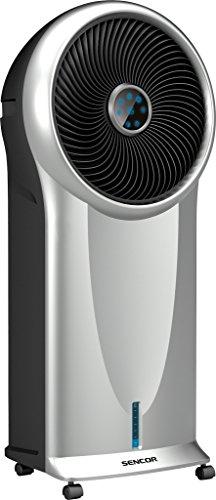 Sencor SFN 9011SL Aire Acondicionado portátil, 110 W, 5.5 litros, 3 Velocidades, Negro, Plata