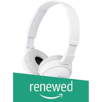 (Renewed) Sony MDR-ZX110A On-Ear Stereo Headphones (White)