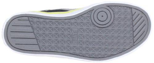 Puma Puma S Vulc Jr 350732 Unisex-Kinder Sneaker Schwarz (black-steel gray-green sheen 28)