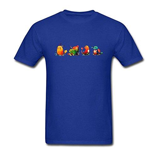 Diseño de monstruo de bolsillo de la tommery Hombres camiseta de algodón S