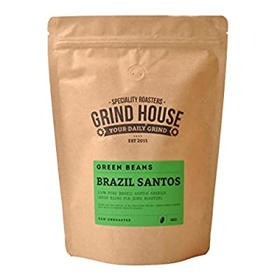 Grind House Brazil Santos Green Coffee Beans for home roasting 400g from Grind House Speciality Roasters