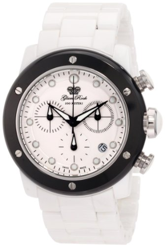 Glam Rock Women's GR50103 Aqua Rock Chronograph White Dial Ceramic Watch