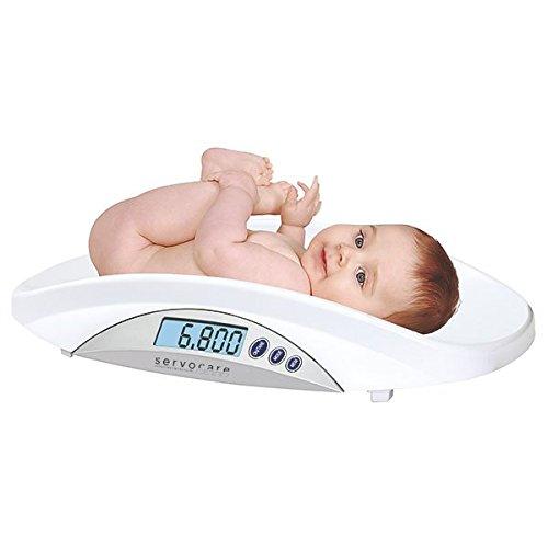 Digitale Babywaage von der Geburt bis zu einem Gewicht von 20 kg - 3 in 1┇Mit abnehmbarer Schale