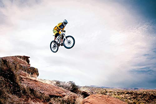 Preisvergleich Produktbild 1art1 118918 Mountain Biking - Take Me Higher XXL Poster 120 x 80 cm