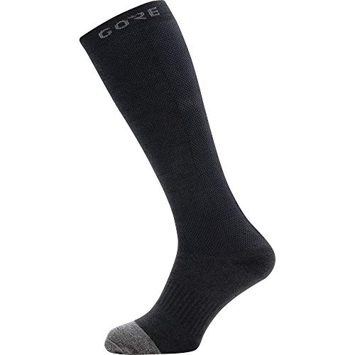 GORE WEAR M Thermo Calcetines largos unisex, Talla: 41-43, Color: negro/gris
