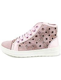 Didiblu Didi Blu Sneakers Bambina con Lacci e Cerniera Camoscio (39 EU, Nero)