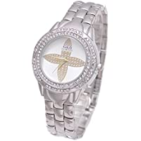 Sheli Casual Argento motivo diamanti simpliefied matrimonio compleanno regalo orologio per donna ragazza, 33 mm - 20 Diamanti Womens Watch