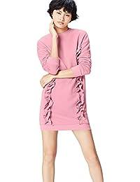 FIND Women's Sweatshirt Ruffle Trim Oversized