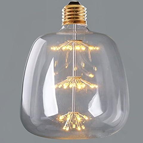 LED ampoule décorative, xinrong G145Starry Sky intérieur Home Bar lampe déco LED, perles tree-shape lumière LED 220V 3W blanc chaud ampoules à vis E27