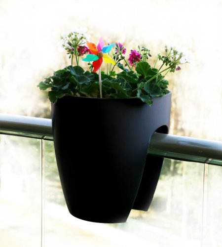 greenbo-planter-macetero-para-barandillas-de-hasta-10-cm-29-x-30-cm-color-negro
