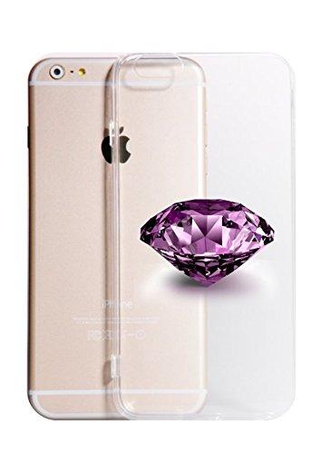 Cover IPHONE X 8- 8PLUS 6 - 6 PLUS - 6S - 6S plus - 7 - 7 plus - ROSE DIAMOND Trasparente VARI COLORI UltraSottili AntiGraffio Antiurto Case Custodia TRASPARENTE