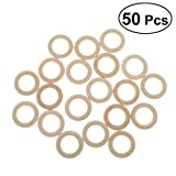 VORCOOL 50 Stück DIY Schmuck Machen Naturholz Ringe Beißring 5,5 cm Holz Durchmesser
