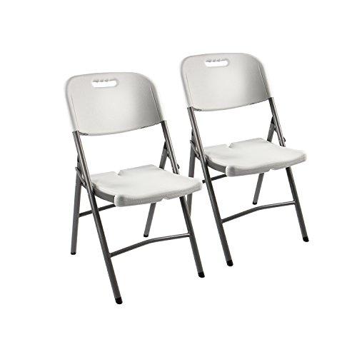 gartenmoebel set angebote Vanage Klappstuhl in weiß - Gartenstuhl im 2er Set - Klappsessel - Gartenmöbel - Stuhl für Garten, Terrasse und Balkon geeignet