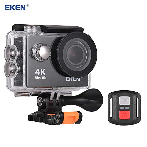 "TOPTOO Cámara de acción EKEN H9R Ultra HD 4K con Control WiFi Cámara Impermeable con Control Remoto 2.4G Pantalla de 12MP con ángulo Amplio 170 ° Pantalla IPS de 2.0""30m Resistente al Agua Go"