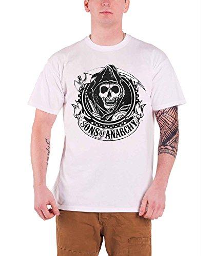 of Anarchy Reaper Herren T-Shirt Gr. XL, weiß - weiß (Sons Of Anarchy Womens Jacket)