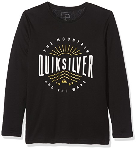 Quiksilver Jungen LS Tee Youth Classic Mad Wave-Long Sleeve T-Shirt, Anthracite, L/14
