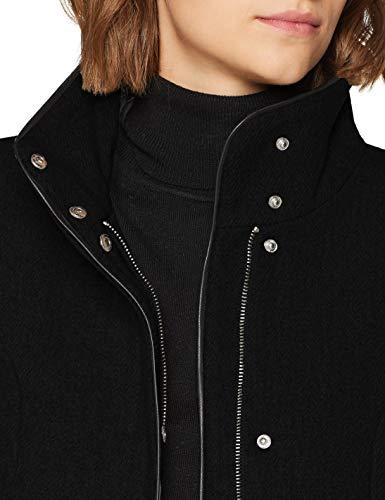 VERO MODA Damen Mantel VMBESSY Class 3/4 Wool Jacket NOOS, Schwarz Black, 36 (Herstellergröße: S) - 4